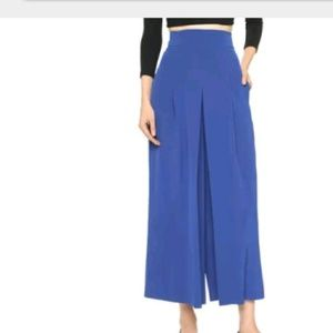 Tibi Heavy Silk Pleated Culottes